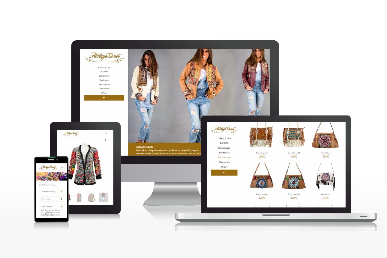 Diseño de tienda online de bolsos y chaquetas