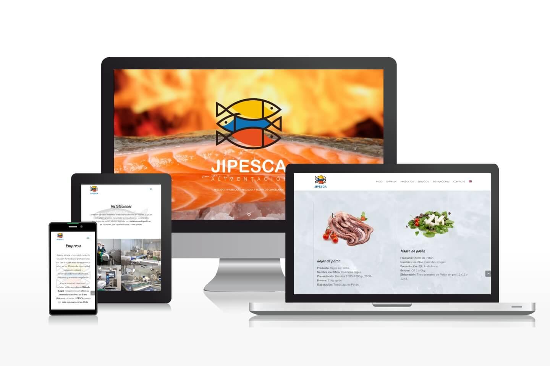 Diseño de página web all-in-one multilingüe para empresa de productos congelados